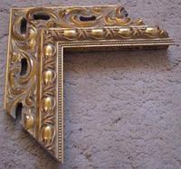 Деревянный резной багет для оформления рам (золото). Рамы для зеркал и картин.