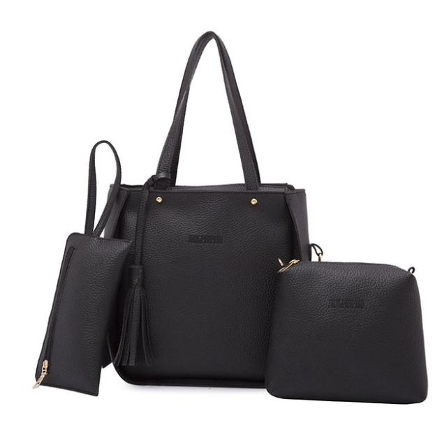 3ff85d920f03 Купить Сумку женскую набор 3 в 1 Luxury Чёрную недорого в интернет ...