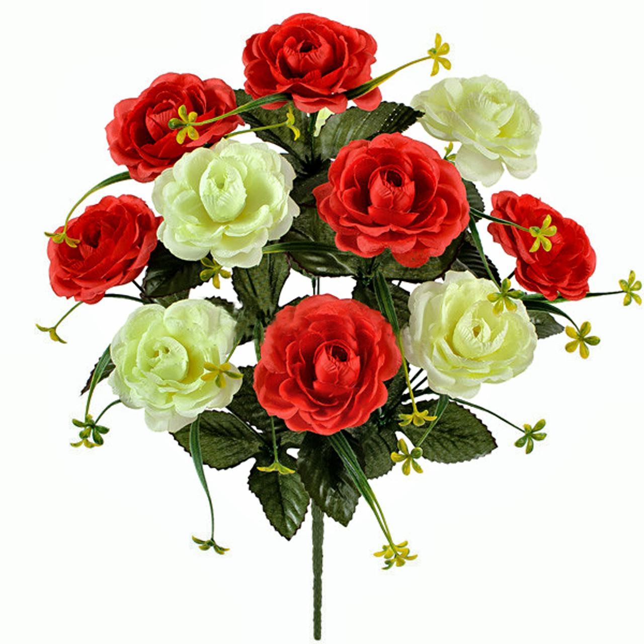 Букет искусственных роз Дуэт, 53см