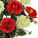 Букет искусственных роз Дуэт, 53см, фото 2