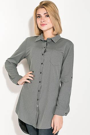 Туника женская, имитация рубашки  64PD2871 (Серый в точку), фото 2