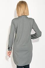 Туника женская, имитация рубашки  64PD2871 (Серый в точку), фото 3