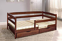 Кровать односпальная Ева с ящиками с бортиком, 70х140