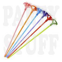 Палочки и держатели для шаров цветные 35 см, 100 шт
