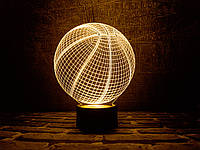 """Сменная пластина для 3D светильников """"Баскетбольный мяч"""" 3DTOYSLAMP, фото 1"""