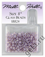 18824 бисер Mill Hill, 8 Opal Lilac Magnifica Glass Beads