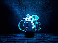 """Сменная пластина для 3D светильников """"Велосипед 2"""" 3DTOYSLAMP, фото 1"""