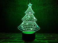 """Сменная пластина для 3D светильников """"Елка"""" 3DTOYSLAMP, фото 1"""