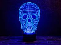 """Сменная пластина для 3D светильников """"Череп 4"""" 3DTOYSLAMP, фото 1"""