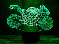 """Сменная пластина для 3D светильников """"Мотоцикл 4"""" 3DTOYSLAMP, фото 1"""