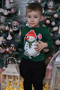 Детские новогодние свитшоты cо сниговиком
