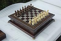 Шахматы бокс темный 3 в 1
