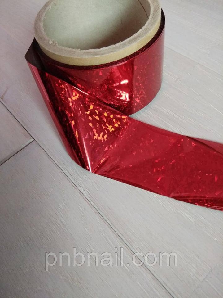 Фольга переводная, красная с узором , 1 м
