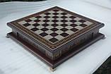 Шахматы бокс темный 3 в 1, фото 6