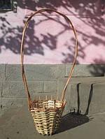 Плетеный цветочник из лозы