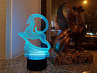 """3d светильник """"Золотая антилопа"""" 3DTOYSLAMP"""