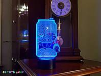 """3D лампа """"Крейзи Бир"""" 3DTOYSLAMP, фото 1"""