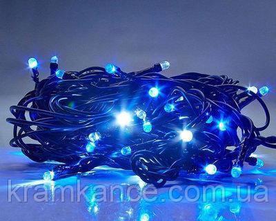 Гірлянда новорічна світлодіодна 300 LED блакитний колір, фото 2