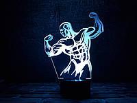 """Сменная пластина для 3D светильников """"Культурист"""" 3DTOYSLAMP, фото 1"""
