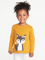 Милый свитер c Лисичкой Old Navy вязаный джемпер НМ на 2, 3, 4, 5 лет