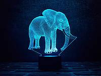 "Сменная пластина для 3D ламп ""Слон 2"" 3DTOYSLAMP, фото 1"