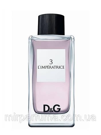 Женская Туалетная Вода Dolce&Gabbana 3 L'Imperatrice тестер, фото 2