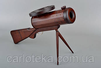 Дерев'яний міні бар подарунок Кулемет