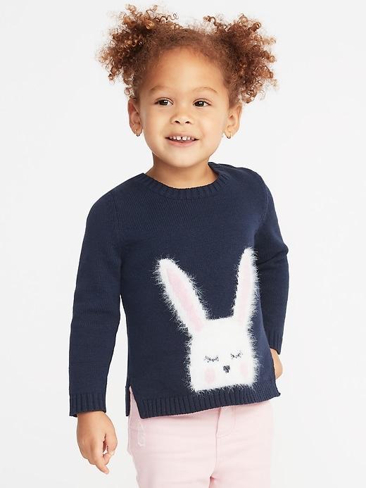 Милый свитер c Зайкой Old Navy вязаный джемпер на 3, 4, 5 лет