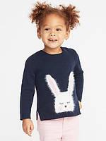 Милый свитер c Зайкой Old Navy вязаный джемпер на 3, 4, 5 лет , фото 1