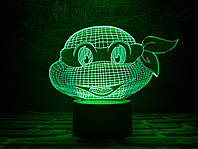 """Детский ночник - светильник """"Черепашка ниндзя 1"""" 3DTOYSLAMP, фото 1"""