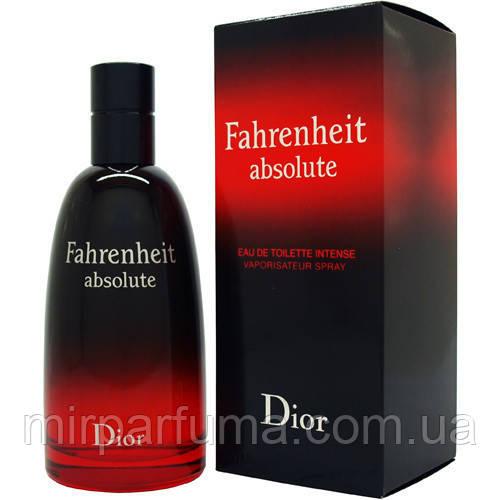 Туалетна вода для чоловіків репліка Christian Dior Fahrenheit Absolute 100 ml копія