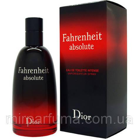 Туалетна вода для чоловіків репліка Christian Dior Fahrenheit Absolute 100 ml копія, фото 2