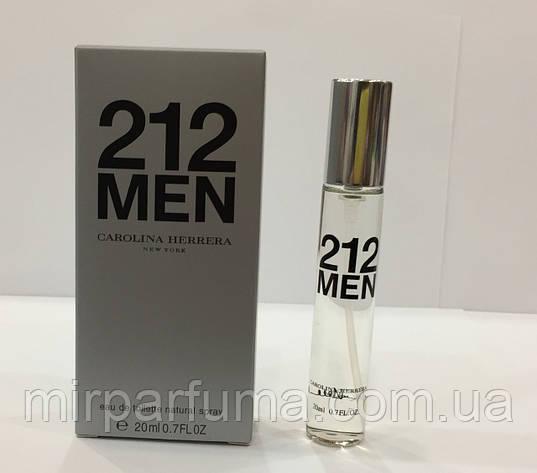20 мл мини-парфюм Carolina Herrera 212 MEN, фото 2
