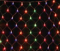 """Гірлянда новорічна світлодіодна 100 LED """"Сітка""""1,5м х1,2м MIX"""