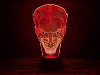 """Детский ночник - светильник """"Джокер"""" 3DTOYSLAMP, фото 1"""