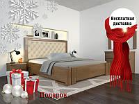 Кровать деревянная с подъемным механизмом Амбер Ромб из натурального дерева , фото 1