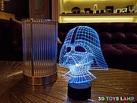 """Детский ночник - светильник """"Дарт Вейдер"""" 3DTOYSLAMP, фото 1"""