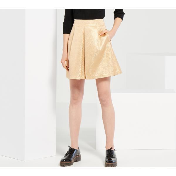 Золотистая юбка со складкой Reserved