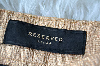Золотистая юбка со складкой Reserved, фото 3
