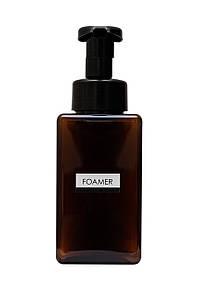 Дозатор диспенсер для жидкого мыла с функцией создания пены FOAMER 450мл коричневый