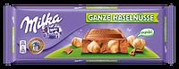 Шоколадная плитка Milka Ganze Haselnusse 300 гр польского производства