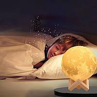 """Детский ночник - светильник """"Луна"""" 15 см 3DTOYSLAMP, фото 1"""