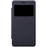 Кожаный чехол книжка Nillkin Sparkle для Xiaomi Redmi 2 черный, фото 1