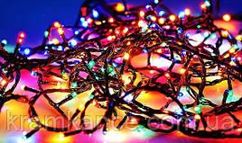 Гірлянда новорічна світлодіодна 100 LED (чорний дріт) MIX