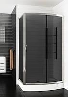 Асимметричная душевая кабина Aquaform SERENGETI с графитовым стеклом 1200x900x2100