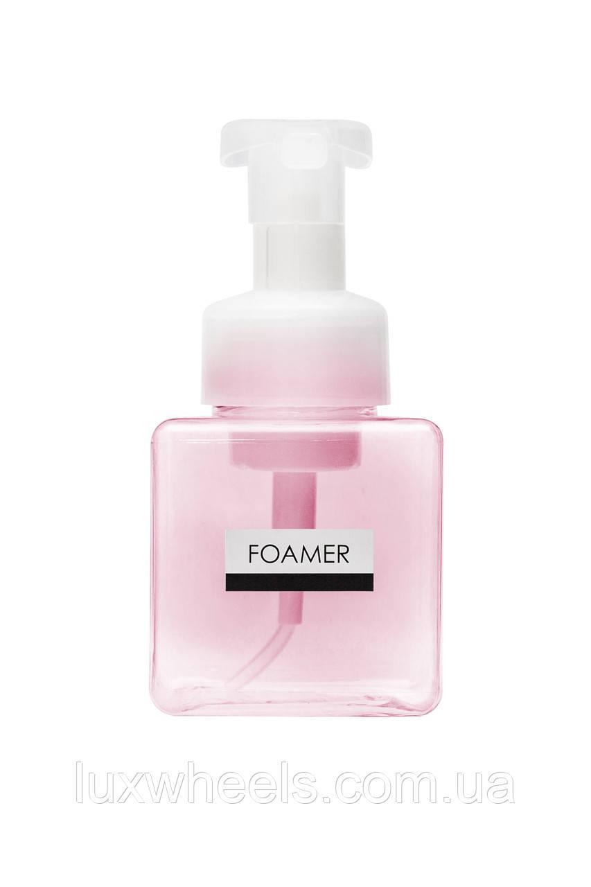 Дозатор диспенсер для жидкого мыла с функцией создания пены FOAMER 250мл розовый