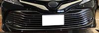 Toyota Camry хром накладки на решетку радиатора TOYOTA Тойота Camry XV70 2018+ верхние ABS