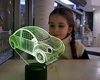 """3D детский ночник """"Автомобиль 14"""" 3DTOYSLAMP"""