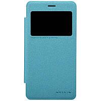 Кожаный чехол книжка Nillkin Sparkle для Xiaomi Redmi 2 бирюзовый, фото 1