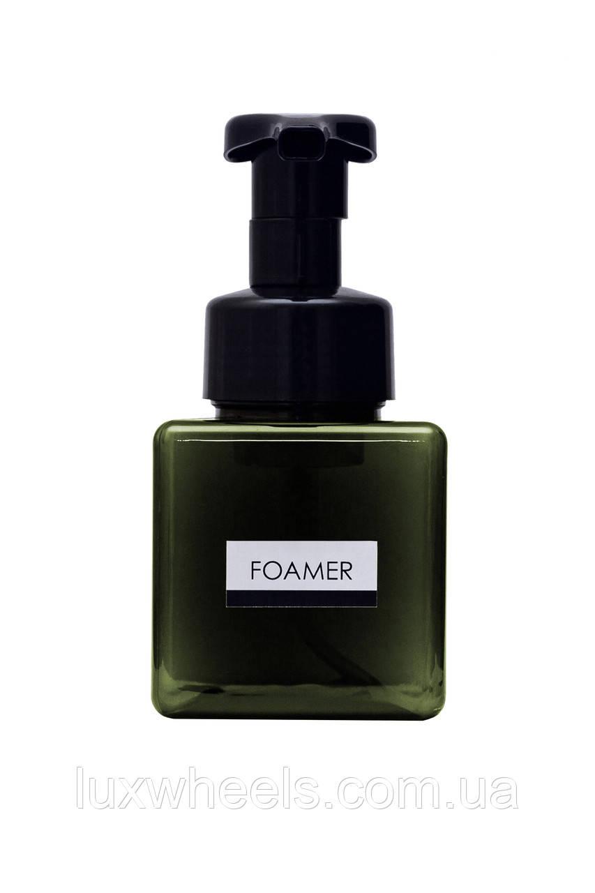 Дозатор диспенсер для жидкого мыла с функцией создания пены FOAMER 250мл темно-зеленый
